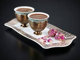 Arzum Okka Ismail Acar Double Turkish Coffee Cup And Small Tray