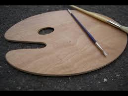 Preparing A Wooden Painters Palette