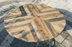 Wood Pallet Multi Chevron Dining Table