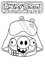 Angry Birds Star Wars Pig Darth Vader Coloring Pages