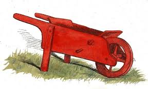 Red Wheelbarrow Drawing
