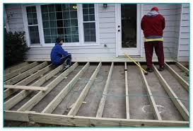 Patio Slabs by Decking Over Patio Slabs