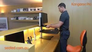 Kangaroo Standing Desk Uk by Kangaroo Pro Sit Stand Workstation Youtube