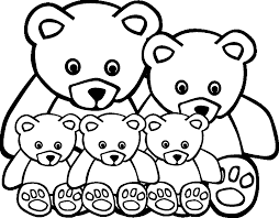 Animal Family Coloring Pages