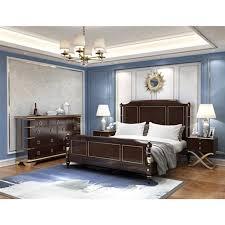beste verkauf alle holz schwarz nussbaum könig größe bett schlafzimmer möbel set