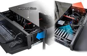 lian li dk 01 x aluminium computer desk no psu black dk 01x