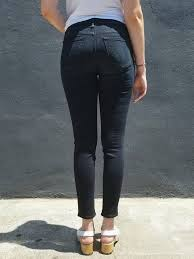 mother denim high waisted looker jeans in coffee tea or me seedstore