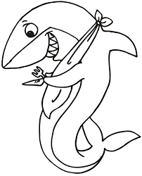Full Image For Printable Coloring Pages Of Great White Sharks Shark Page Ready To Eat