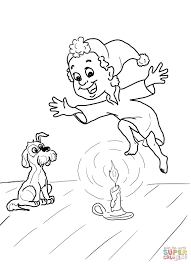 Click The Jack Be Nimble Nursery Rhyme Coloring Pages To View Printable
