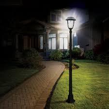 candela solar l post with gs solar led light bulb gs 54b s