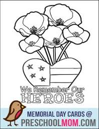 Image Result For Memorial Day Poppy Coloring Page