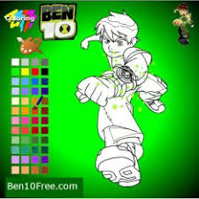 Ben 10 Coloring Book Games