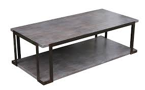 Chicago Industrial Steel And Cement Coffee Table Custom Built In Los