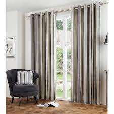 Ebay Curtains With Pelmets Ready Made by Vertical Stripe Cotton Lined Eyelet Curtains Ready Made With