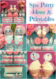 Surprising At Home Spa Party Ideas Printables And Spas
