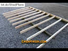 Free Plans For Building A Wood Storage Shed by How To Build A Wooden Storage Shed Floor Video Youtube