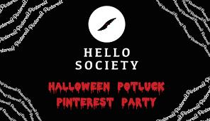 Free Halloween Potluck Invitation by Participate In Hellosociety U0027s Halloween Potluck Pinterest Party