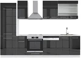 vicco küche fame line 240 cm küchenzeile küchenblock einbau