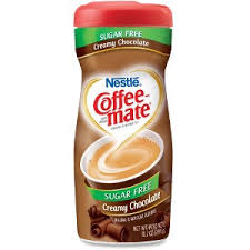 NestleR Coffee MateR Creamer Sugar Free Creamy Chocolate 102oz Powder Flavor