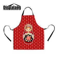 100 Matryoshka Kitchen US 1648 32 OFFDropshipping Doll Printed Apron For School Russian Doll Waist Cooking Apron Custom Garden Apron For Womenin