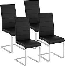 tectake esszimmerstühle schwingstuhl set kunstleder diverse farben 4er set schwarz nr 402553