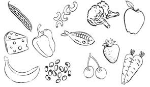 Coloring Pages Healthy Foods 13 Of Vegetables Page