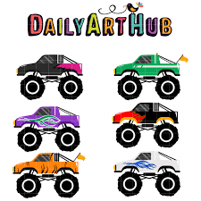 Monster Truck #5 Clip Art Set   Daily Art Hub - Free Clip Art Everyday Monster Truck Clip Art Pictures Free Clipart Images 8 Clipartix Toy Clipartingcom Free Delivery Truck Clipart Image 10818 Green Vintage 101 Clip Art Of A Black Pickup Silhouette By Jr 1217 Cliparts Download On Food Ready Mix Photos Graphics Fonts Themes Templates Png Best Web Black And White Clipartcow Have Been Searching For This Shop Ideas Pinterest