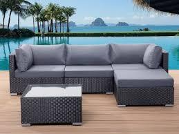 Sirio Patio Furniture Soho by Beliani Sano Black Wicker Garden Furniture Sectional Outdoor