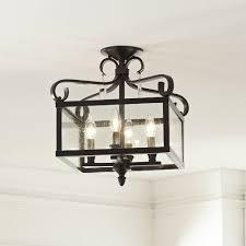 Farmhouse Semi Flush Light Unthinkable Wonderful Mount Lighting Pictures Best Home Interior 16