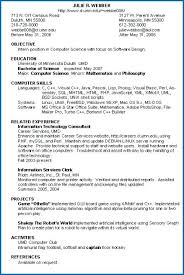 Resume Examples Umd Packed With For Information Technology Sample Best Of