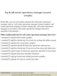 Top8callcenteroperationsmanagerresumesamples 150515013436 Lva1 App6892 Thumbnail 4cb1431653724