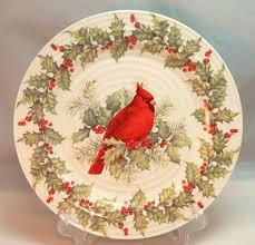 Cracker Barrel White Ceramic Christmas Tree by Cracker Barrel Plaid Tidings Red Cardinal Bird Holly Ceramic 11