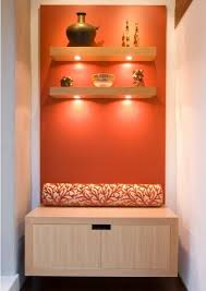 Coral Colored Decorative Accents by Coral Accent Wall U0026 Lighted Shelves For The Home Pinterest