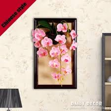 Buy High Simulation 3D Wall Hanging Artificial Orchid Flowers Picture Frames China Style Ancient Phalaenopsis Paintings Handicrafts In Cheap Price On