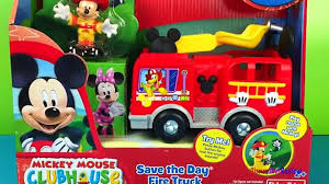 100 Mickey Mouse Fire Truck Play Doh Clubhouse Save The Day Rescue Toys