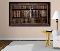 3d wandtattoo alte bücher buch regal antik bibliothek selbstklebend wandbild wohnzimmer wand aufkleber 11l456 3dwandtattoo24 de