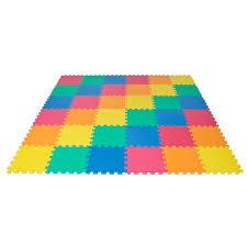 Best Choice Products Rainbow Interlocking EVA Foam Baby Mat