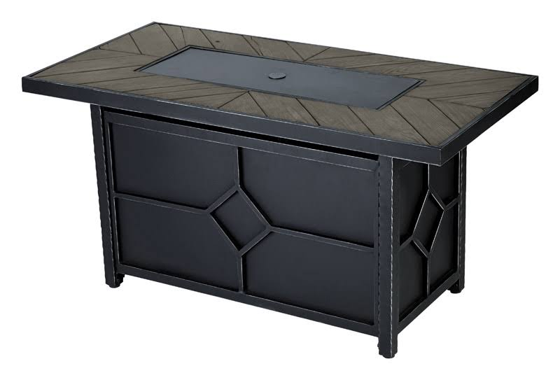Living Accents Rectangular Propane Fire Pit