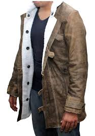distressed brown real leather coat men sheepskin jacket best