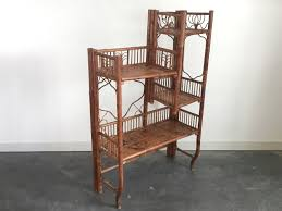 Antique Victorian Era Folding Bamboo Shelf. Vintage ... Victorian Bamboo Folding Screen The Annual Singapore Design Week Is Back With Over 100 Vtg Pair Parzinger Rattan Woven Chair Regency Victorian Design Mirror Antique Bamboo 3 Tier Table In Rh11 Crawley For Folding Campaign Chair Hoarde Az Of Fniture Terminology To Know When Buying At Auction French Colonial Faux Restoration Project C1900 Walnut Deck Circa A Guide Buying Vintage Patio Fniture V Studio Forest On The Roof Divisare