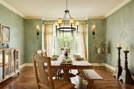 Dining Room Exquisite Classic Meet Traditional Decor Ideas Offer Wrought Iron Round Lighting
