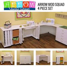 Arrow Kangaroo Sewing Cabinets by Arrow Modular Mod Squad 4 Piece Set Sewing Cabinet W Air Lift