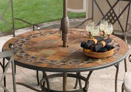 Outdoor Tablecloth With Umbrella Hole Uk by Medrabotniki Round Patio Table Sets Chrome Side Table Settee