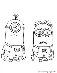 Stuart And Jerry Is Shocked The Minion Coloring Page Pages Print Download 600 Prints 2016 01 05