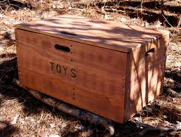 wooden crate toy chest large storage box from reclaimed wood