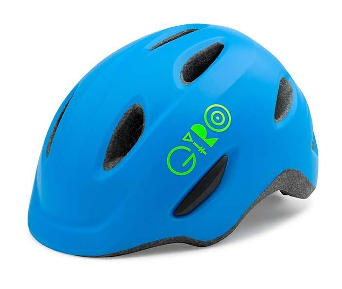 Giro Youth Scamp Cycling Helmet - Matte Blue/Lime, X-Small