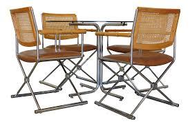 Chromcraft Dining Room Chairs by Vintage Chromcraft Wicker U0026 Bamboo Dining Set Chairish