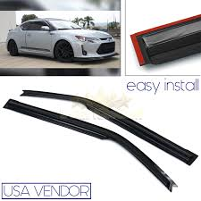DIRECT FIT 11-16 SCION TC USA WINDOW WIND DEFLECTOR RAIN GUARD BLACK ... Rain Guards Inchannel Vs Stickon Anyone Know Where To Get Ahold Of A Set These Avs Low Profile Door Side Window Visors Wind Deflector Molding Sun With 4pcsset Car Visor Moulding Awning Shelters Shade How Install Your Weathertech Front Rear Deflectors Custom For Cars Suppliers Ikonmotsports 0608 3series E90 Pp Splitter Oe Painted Dna Motoring Rakuten 0714 Chevy Silveradogmc Sierra Crew Wellwreapped Kd Kia Soul Smoke Vent Amazing For Subaru To And
