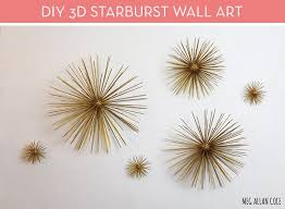 Make It DIY Mid Century Modern 3D Starburst Wall Art Curbly