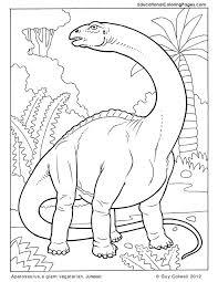 Apatosaurus Coloring Pages Dinosaurs Jurassic